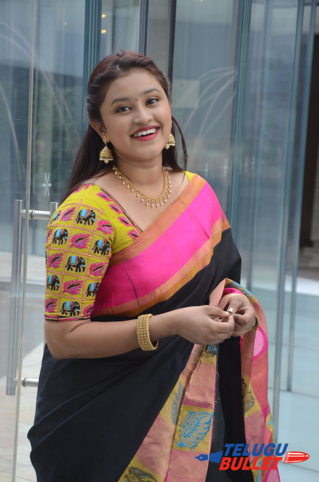 Actress Priya Krishna Saree Stills2