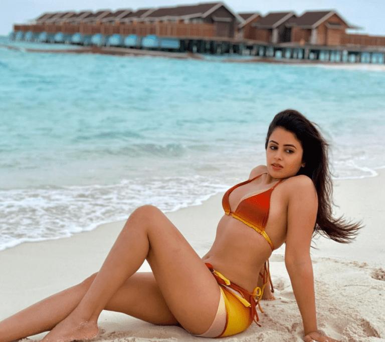 Actress Shobhita Rana Bikini Pics at maldives